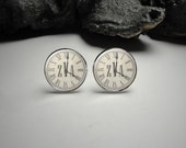 Personalized Time and  Monogram Clock Cuff Links, Monogram Cuff Links, Custom Time in the Clock, Personalized Cuff Links, Wedding Cuff Links