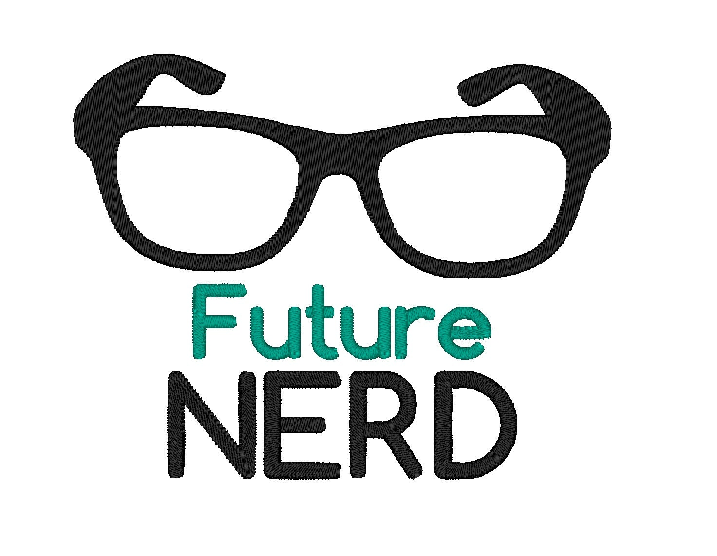Future Nerd Instant Download Machine Embroidery Design