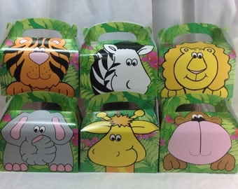 Zoo Animal Treat Boxes....6 Ct.....Kids Favor Boxes.....Birthday Party......Fun Lunch Boxes......