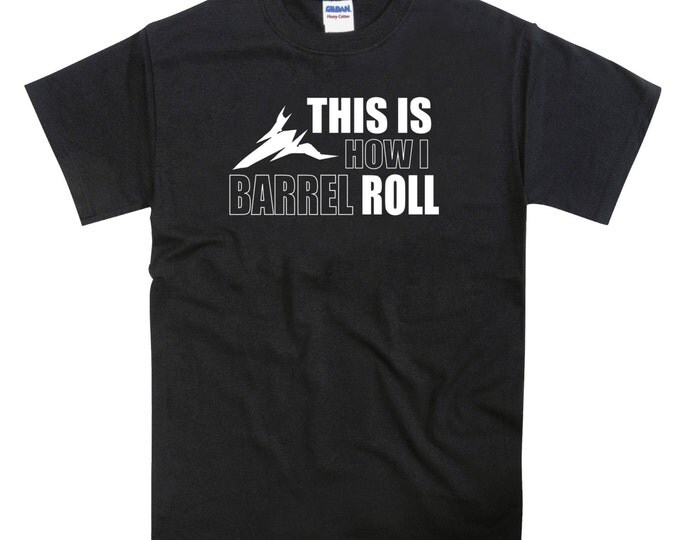 This is How I Barrel Roll Starfox Starwing Inspired Tshirt