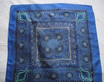 Delightful Blue and Turquoise Paisley Scarf. Free shipping