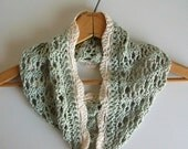 Vintage Style Green Knit Lace Circle Scarf