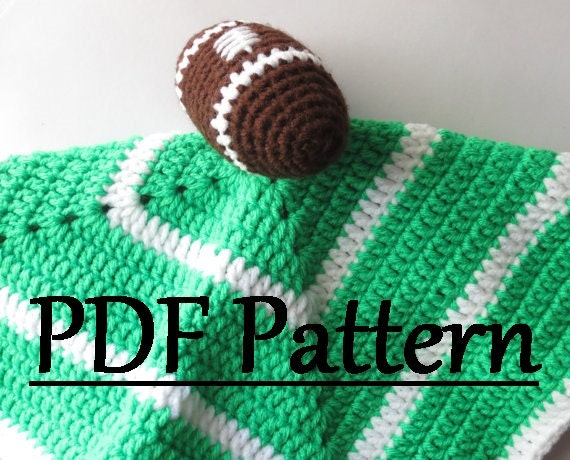 Crochet Pattern For Football Blanket : Crochet Football Security Blanket Pattern Crochet Football