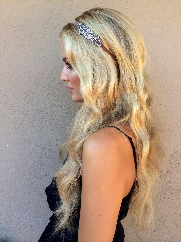 Robes charleston Annees 20 Headband Mariage silver Gatsby
