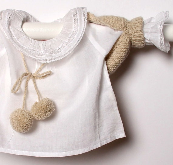 Baby Shoulderette Instructions in English / PDF Instant Download  / Sizes Newborn / 3 / 6 / 12 months
