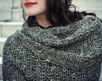 snood scarf - snood cowl - spring fashion - oversized scarf - gift for her - cosy knit