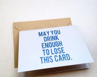 Friend Birthday Card - Humor Birthday - Sarcastic Birthday - Funny Birthday - Drinking Card