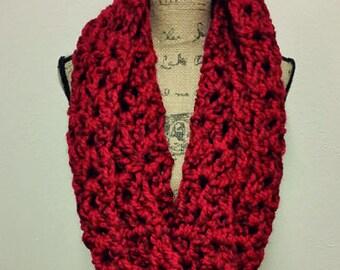 Crocheted Oversized Infinity Scarf