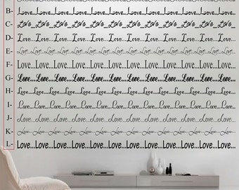 Love... Border - vinyl wall decal (some assembly required)