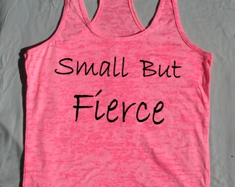 Workout clothes - Small but Fierce - Fitness Tank Top, Workout racerback tank top