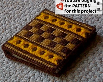 """Plastic Canvas Pattern: Graph 'N Go -- """"Harvest"""" Notepad Holder ***PATTERN ONLY***"""