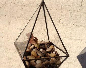 Octohedron Hanging Glass Planter