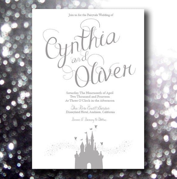 Fairytale Beginning Disney Inspired Wedding Invitation