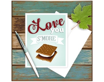 Funny Love Card, Smore Love Card, Love Card for Him, Love Card for Her, Love You More, Anniversary Card, Card for Him, Card for Her