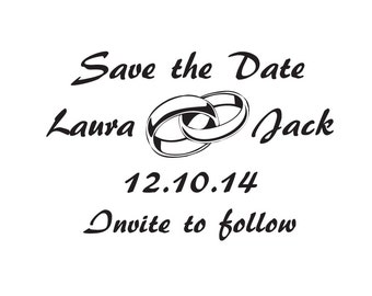 Custom Save the date stamp custom stamp Weddings
