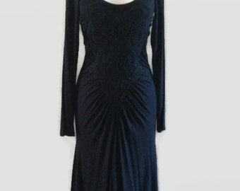 A Little Lace Black Vintage Roberto Cavalli Designer Dress