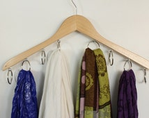Scarf and infinity scarves wooden hanger and organizer