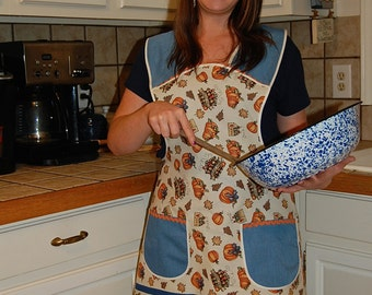 Thanksgiving Mommy and Me Matching Fall Kitchen Aprons for You and Your Little Maker