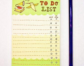 Daily Planner Notepad, teacher appreciation gift, back to school, Work Planner - Stationery Planner, to do list pad stationery, success gift