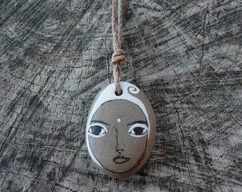Beach Stone Kanzeon Bodhisattva Necklace (Kuan Yin - The Bodhisattva of Compassion)