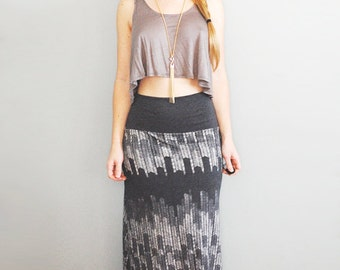 Starling Maxi || High Waist Maxi Skirt, American Milled Fabric, a line maxi skirt, printed maxi skirt, free spirit || By Simka Sol®