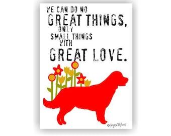 Golden Retriever Dog Art Print Inspirational Wall Decor