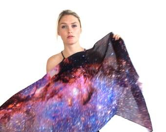 Milky Way Galaxy Wool Scarf
