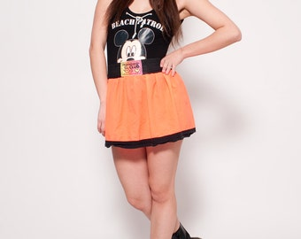 Vintage Club Kid Bright Neon Skirt