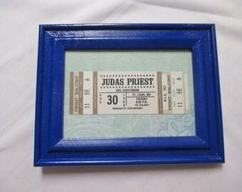 FRAMED JUDAS PRIEST Vintage Unused Ticket Stub 1988 - Kiel Auditiorium St Louis, Mo