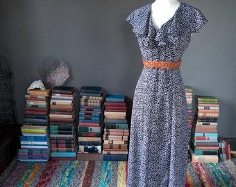 Vintage circa 1990s sheer mini FLORALS bohemian summer MAXI DRESS