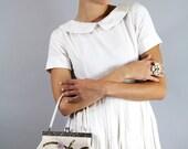 Vintage Glass BEADED FLORAL Purse Wedding Party Purse // Vintage Clothing by TatiTati Style on Etsy