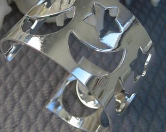 Celestial Sterling Silver Cuff Bracelet