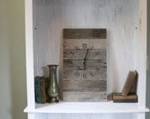 Rectangular Pallet Wood Clock.  Farmhouse Style.  GRAY wood. Wall Clock. Customizable.  Housewarming Gift.  Wedding.  Anniversary
