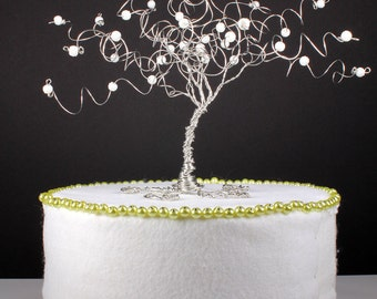 Frozen Tree Winter Wedding Cake Topper Custom Wire Tree Sculpture