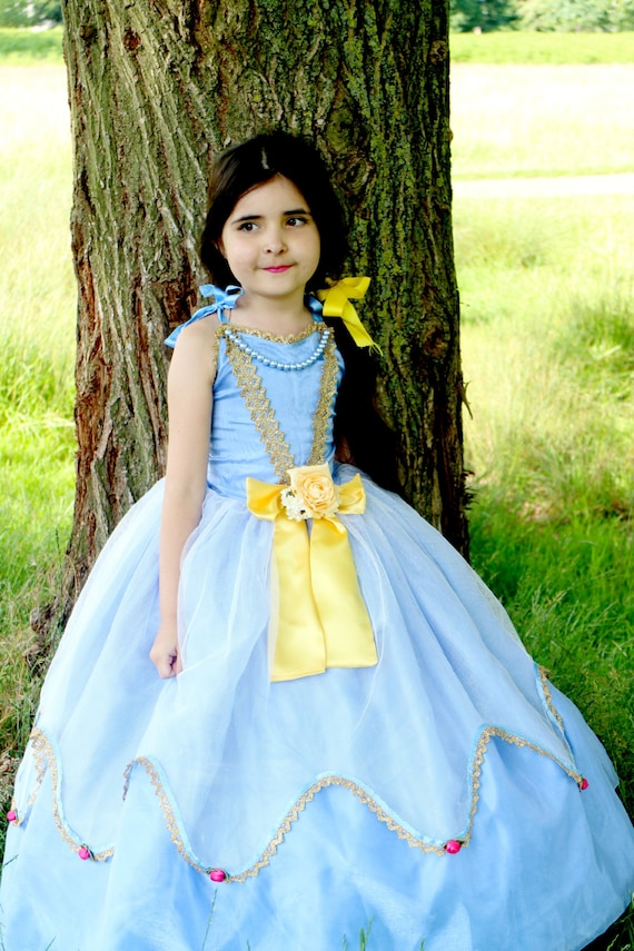 Cinderella Princess Costume, Blue Princess Dress, Child's Halloween Costume