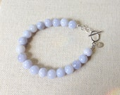 Blue Lace Agate Happiness Bracelet - 5th Chakra Energy