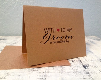 Groom card - personalized thank you card with wedding date