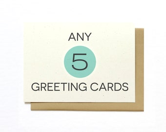 Mix and Match Any 5 Greeting Cards - Assorted Greeting Cards - Hennel Paper Co.