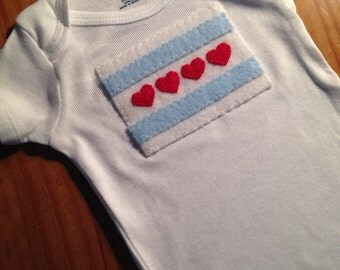 "Filled with ""Chicago Love"" Infant Onesie"