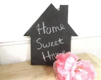 small house shaped chalkboard