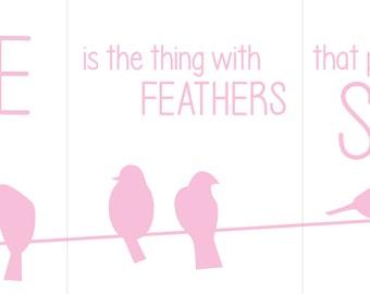Birds on a Wire Triptych