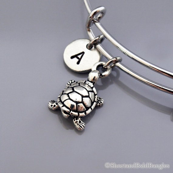 small turtle bangle small turtle charm bracelet expandable