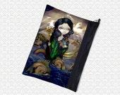 Jasmine Becket-Griffith Alchemical Seas, zippered pouch, art supply bag wristlet, travel bag,