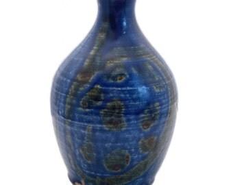 Japanese Pottery Vase | Japanese Vintage | Mid Century Modern | Studio Pottery | Blue | Green