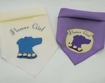 Wedding Dog Bandana - Dog Flower Girl Outfit - Wedding Pet Photo Prop