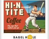 Baseball Coffee Lover Art Print for MLB fans CUSTOMIZE IT