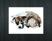 8x10 Printable Dog Decor, Digital Print, Printable Art, Nursery Art, Digital Art, Animal Illustration, Animal Art : Puppy Dog