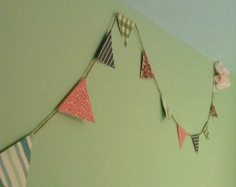 Decorative party bunting.