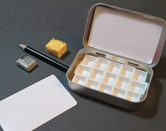 MINI WATERCOLOR PALETTE kit ~ ready to fill ~ portable ~ compact ~ travel sketch ~ Altoids style tin