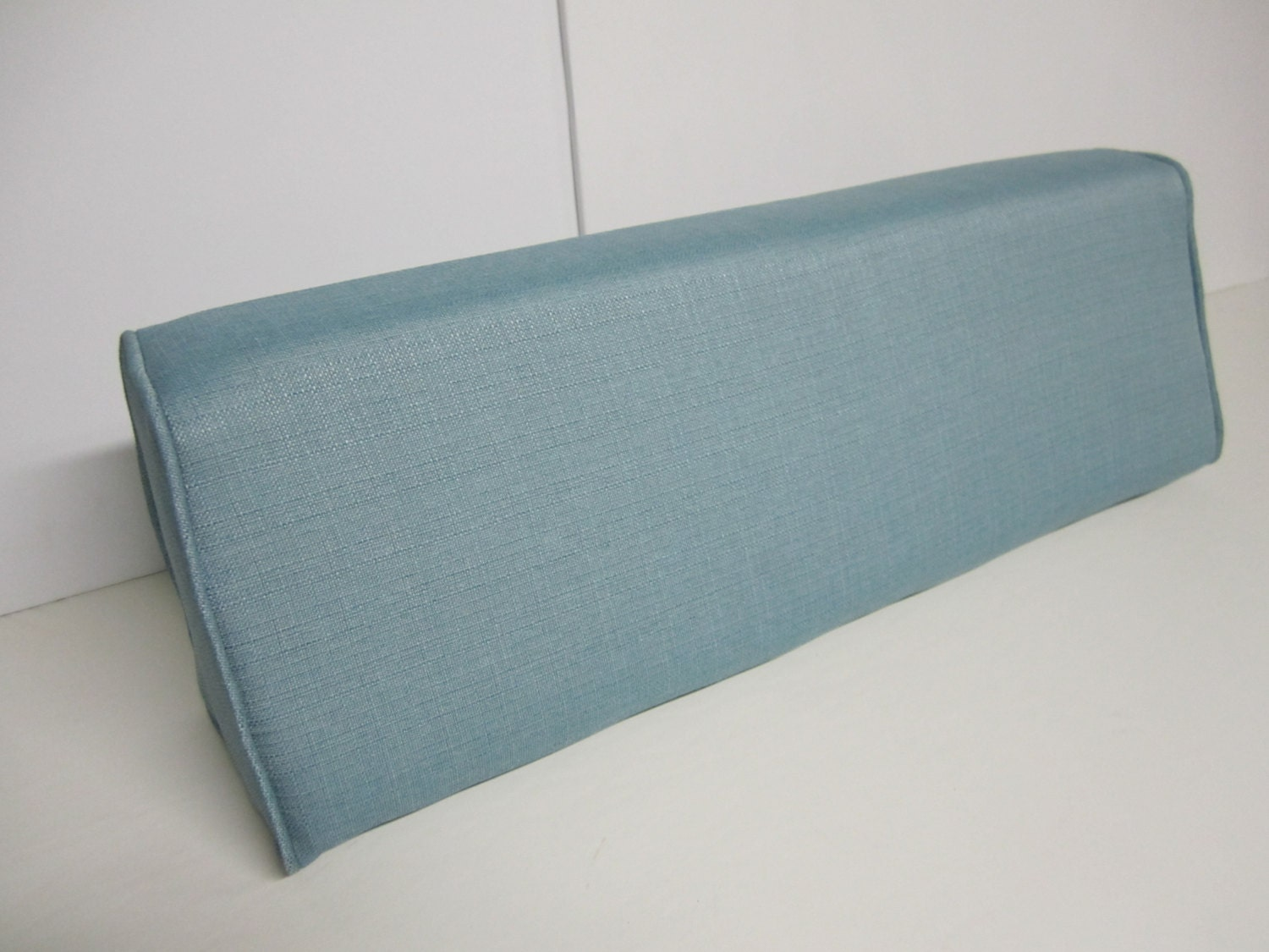 Daybed Wedge Bolster Foam and Cover Linen-Turquoise